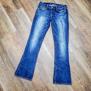 AEO | jeans | super stretch | low rise | flare